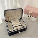 大容量多層首飾盒歐式高檔奢華耳環耳釘項錬戒指飾品展示收納盒 設計師