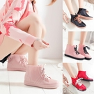 女士水鞋防滑加絨雨靴短筒保暖韓國可愛套鞋膠靴雨鞋女時尚款外穿 雙12狂歡購