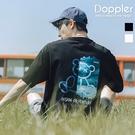 短T 潮流絢彩刷色小熊印花設計 小寬鬆短袖T恤 情侶【TJH1569】現貨+預購 Doppler