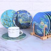 彩盒裝美耐瓷隔熱餐墊8個裝 鍋墊隔熱墊密胺仿瓷盤墊餐桌防燙墊梗豆物語