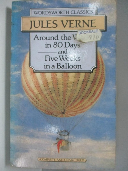 【書寶二手書T9/原文小說_AEF】Around the World in Eighty Days: 5 Weeks in a Balloon_Jules Verne