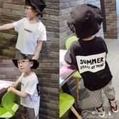 男童T恤 男寶T恤夏天男童寶寶半袖不規則3白色短袖4小童時尚寬鬆體恤2-6歲  提拉米蘇