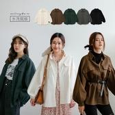 MIUSTAR 雙口袋大澎袖寬鬆斜紋布外套(共5色)【NH2345】預購