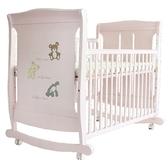 L.A. Baby 美國加州貝比 芝加哥搖擺大床/童床/木床/嬰兒床(玫瑰粉色)063P[衛立兒生活館]