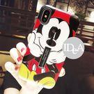 iPhone XR 迪士尼浮雕指環支架手機殼 米奇 米妮 保護殼 軟殼  全包xr 防摔