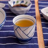 青窯手繪幾何茶杯170ml-生活工場