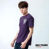 BIG TRAIN 天城騰龍V領TEE-男-深紫