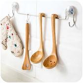 帶鉤日式木制木質大盛湯勺火鍋長柄帶勾廚房家用木柄大孔漏勺套裝【無趣工社】