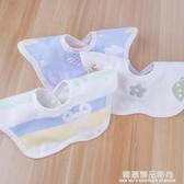 六層360度口水巾純棉嬰兒寶寶小孩圓形圍嘴紗布圍兜新生兒童飯兜