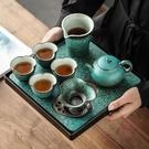 茶盤家用小茶臺茶托盤中式簡約功夫茶具【櫻田川島】