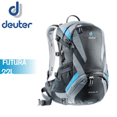 【Deuter 德國 Futura 22L  網架式透氣背包《黑/灰》】34204/登山背包/後背包/防雨罩/自行車/旅行