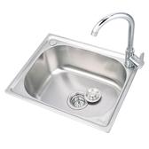 304不銹鋼水槽單槽廚房洗菜盆洗碗盆單盆加厚洗碗池大單槽套裝