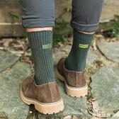 襪子男士棉質中筒襪黑色襪韓版刺繡字母復古長襪秋冬款高筒襪韓版