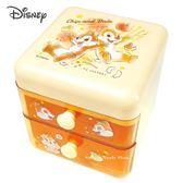 日本限定 迪士尼 奇奇蒂蒂 桌上型 雙層抽屜收納盒/ 文具收納盒