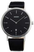 【分期0利率】ORIENT 東方錶 極簡風格 黑底 皮帶 全新原廠公司貨 錶徑4公分 FGW05004B