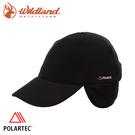 【Wildland 荒野 中性 POLARTEC 保暖遮耳球帽《黑》】P2027/棒球帽/運動帽/壓舌帽