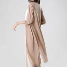 空調衫 夏季新款防曬衣女中長款外搭披肩冰絲針織空調衫薄款開衫外套-Ballet朵朵