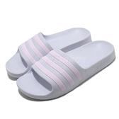adidas 拖鞋 Adilette Aqua 藍 紫 童鞋 中童鞋 小朋友 涼拖鞋 運動拖鞋 【ACS】 FY8073