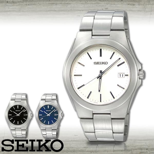 SEIKO 精工手錶專賣店 SGEE77P1 男錶 石英錶 不鏽鋼錶殼錶帶 白 礦物強化玻璃 防水