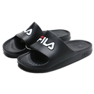 FILA (偏小建議大半號) 黑白紅 大LOGO 基本款 防水 膠拖 拖鞋 男女 (布魯克林) 4S355Q001