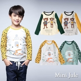 Mini Jule男童 上衣 星星小熊英文字母/滑雪熊滿版雪花袖長袖T恤(共4款) Azio Kids 美國派 童裝