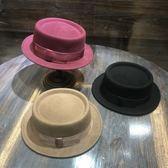 爵士帽-秋冬時尚百搭平頂女羊毛呢帽6色73tk33[巴黎精品]