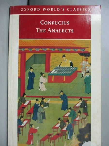 【書寶二手書T3/文學_NPX】The Analects_Confucius/ Dawson, Raymond Stan