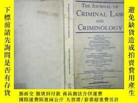 二手書博民逛書店THE罕見JOURNAL OF CRIMINAL LAW AND