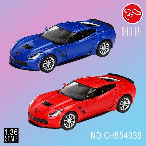 【瑪琍歐玩具】1:36 Chevrolet Corvette C7 授權合金迴力車/CH554039