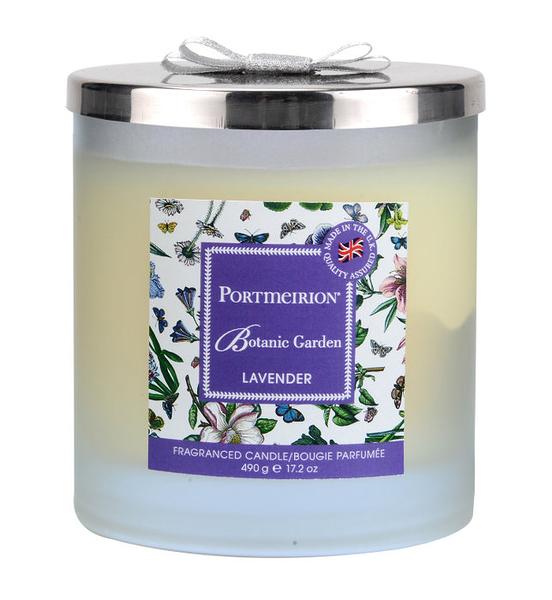 英國 Portmeirion 植物園 Botanic Garden 聯名系列 - 薰衣草玻璃附蓋雙蕊蠟燭