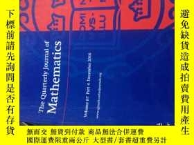 二手書博民逛書店The罕見Quarterly Journal of Mathem