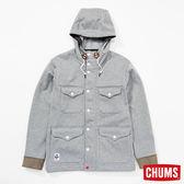 CHUMS 日本 男 Teeshell防水兜帽外套 淺灰 CH041070G005