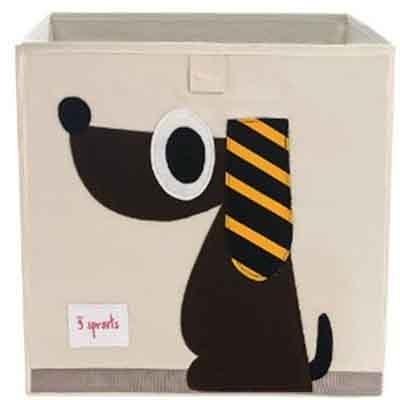 加拿大 3 Sprouts 收納箱-黑皮狗
