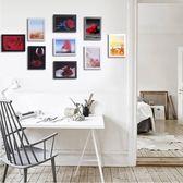簡約現代懸掛照片牆裝飾客廳相片牆相框創意組合九宮格掛牆相框牆  Cocoa