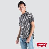 [買1送1]Levis 男款 純棉襯衫 / 休閒版型 / 滿版棋盤Logo