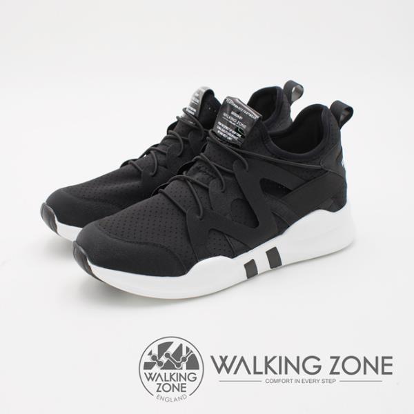 【南紡購物中心】WALKING ZONE 運動慢跑休閒 女鞋-黑(另有白)