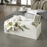 面紙盒/面紙套多功能紙巾盒創意客廳茶幾遙控器收納盒桌面抽紙盒歐式可愛紙抽盒·樂享生活館