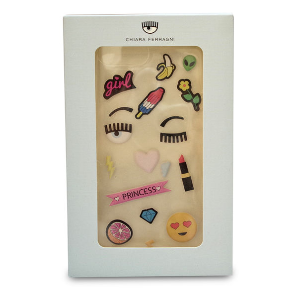 Chiara Ferragni DIY貼紙眨眼透明軟膠I phone 7 Plus 手機殼 現貨