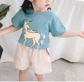 女童上衣女童短袖兒童t恤上衣新款0女寶寶1打底衫2童裝3歲4小童5夏裝6 歐歐
