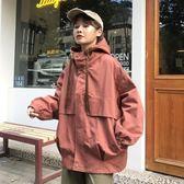 2018春秋新款工裝外套女韓版寬鬆連帽oversized短款bf學生風衣潮