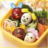 廚房【asdfkitty】日本msa貓狗熊羊耳朵裝飾食物叉含表情壓模-插肉丸鳥蛋小番茄-日本正版