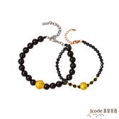 J'code真愛密碼 守護愛情黃金/黑瑪瑙/尖晶石成對手鍊