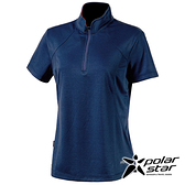 PolarStar 女 Coolmax抗菌立領衣『深藍』P20122 排汗衣 排汗衫 吸濕快乾 露營.戶外.吸濕.排汗.透氣