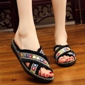 時尚外穿拖鞋女 民族風女拖鞋網紅平底涼拖鞋防滑沙灘鞋