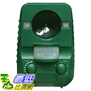[106美國直購] 驅蟲器 Ultrasonic Animal Cat Repellent, Solar Powered & Battery Operated Waterproof Cat