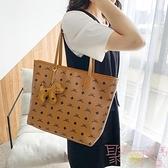 包包女軟皮通勤大容量購物袋單肩手提托特大包【聚可愛】