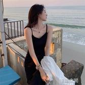 洋裝 2020春夏裝新款韓版復古打底小黑裙性感無袖內搭顯瘦吊帶連身裙女