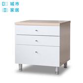 【城市家居-綠的傢俱集團】義式床頭收納矮櫃-新楓色(床頭櫃/床邊桌/抽屜櫃)