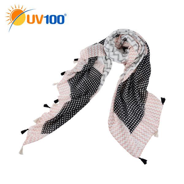 UV100 防曬 抗UV 輕薄巴黎紗披肩-百搭圖樣