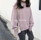 現貨 裸粉色刷毛假兩件大學服 CC KOREA ~ Q19687